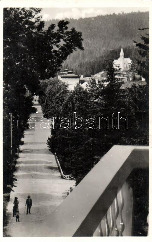 Borsec, promenade, Borszék, Főúti sétány