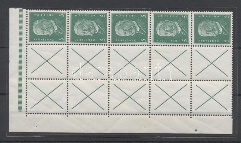 Füzetösszefüggés, block from stamp booklet sheet