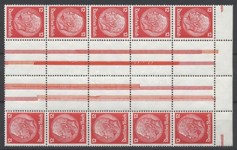 Füzetív összefüggés block from stamp booklet sheet