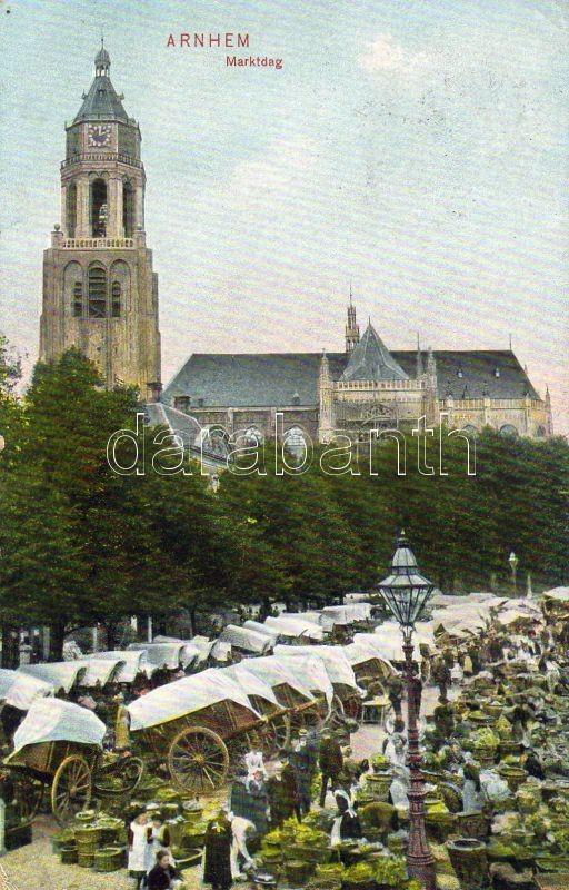 Arnheim, Marktdag / market place, merchants