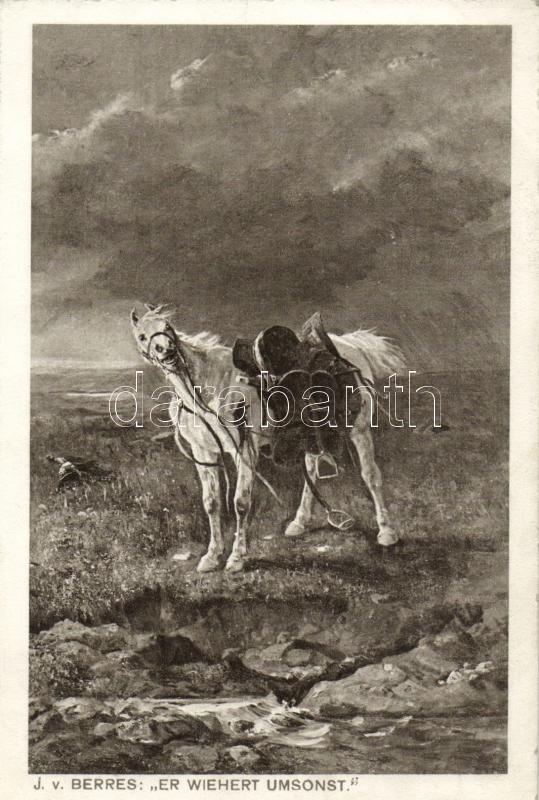 He snorts vain, B.K.W.I. Nr. 944/3. s: J. v. Berres, Ló lovas nélkül, B.K.W.I. Nr. 944/3. s: J. v. Berres