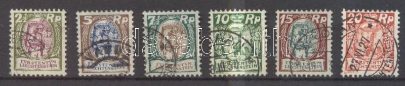 1924/1927 definitive set without closing values 1924/1927 Forgalmi sor záróérték nélkül