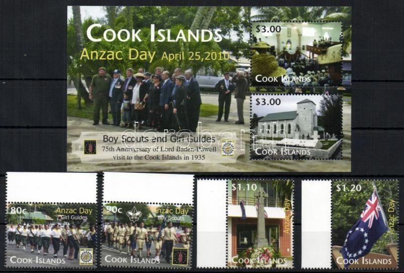 Australian and New Zealand Army Corps - Scouts set + block Ausztrál-Új-Zélandi Veterán Szövetség (Anzac) - Cserkész sor + blokk