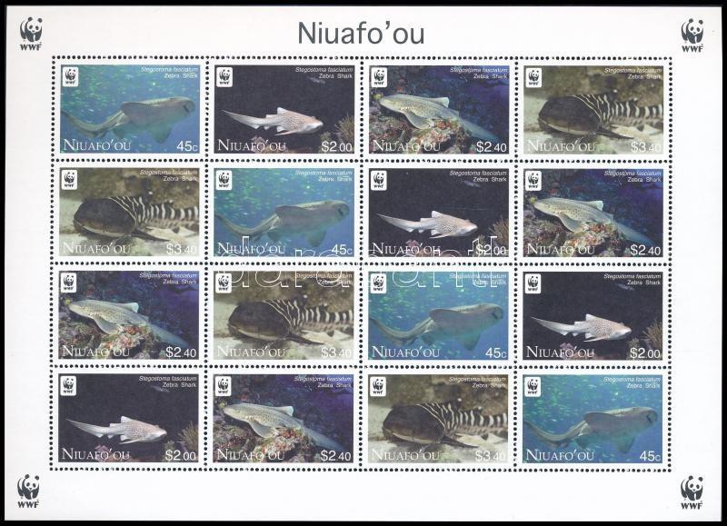WWF Zebra Shark mini sheet with 4 set WWF Zebracápa 4 sort tartalmazó kisív