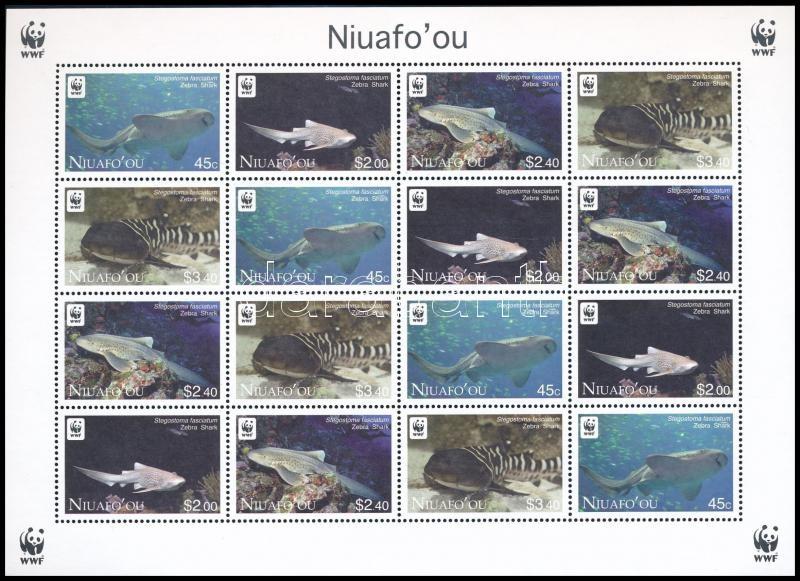 WWF Zebra Shark mini sheet with 4 set, WWF Zebracápa 4 sort tartalmazó kisív