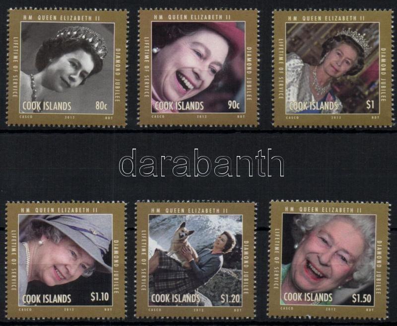 60th anniversary of the coronation of II. Queen Elizabeth set + mini sheet + block, II. Erzsébet királyné trónra lépésének 60. évfordulója sor + kisív + blokk