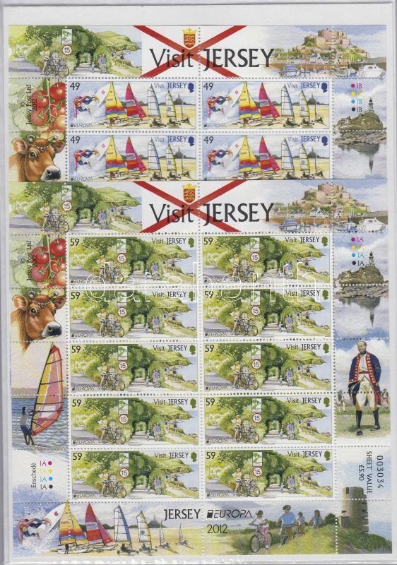 Europa CEPT Látogatás Jersey-n + kisívpár Europa CEPT Visiting Jersey + mini sheet pair