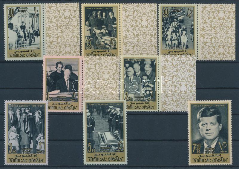 John F. Kennedy set + courtesy of cancellation block John F. Kennedy sor + szívességi bélyegzős blokk