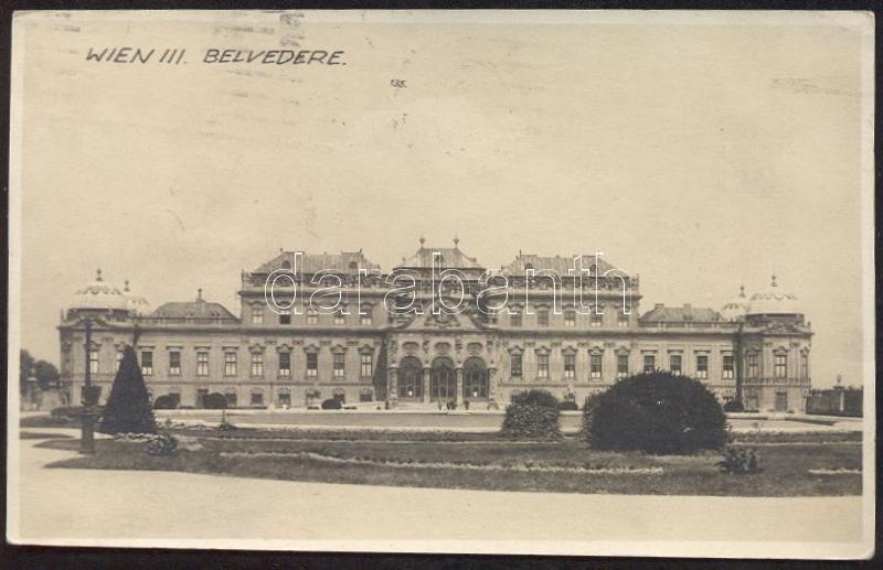 Vienna, Wien III. Belvedere