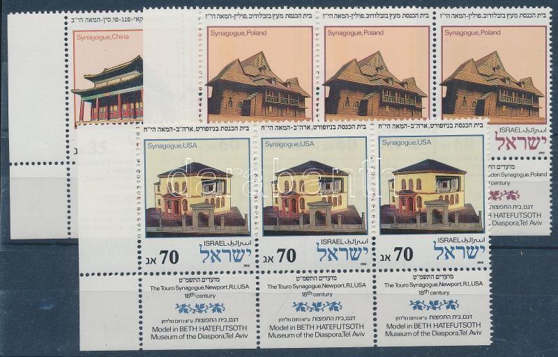 Zsinagógák tabos hármas csíkok Synagogues in stripe of 3s with tabs