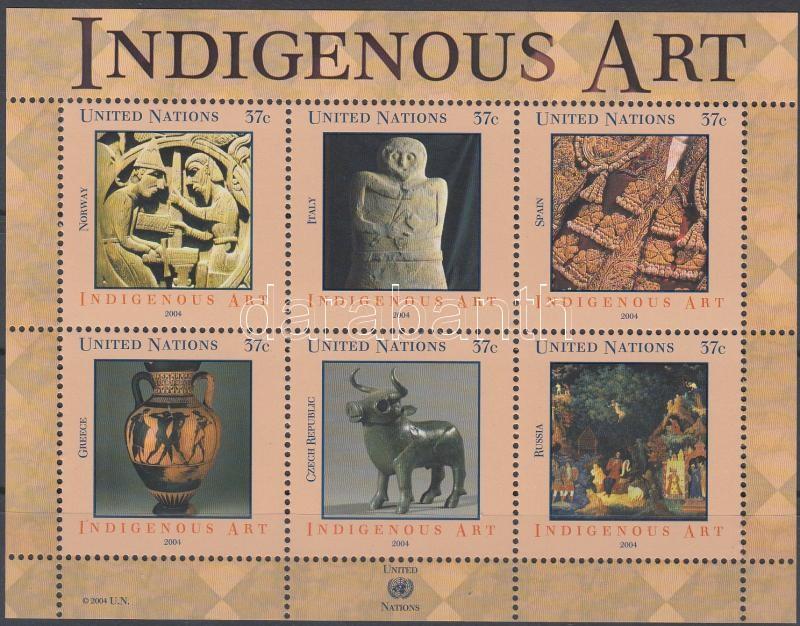 Indigenous art block Bennszülött művészet blokk