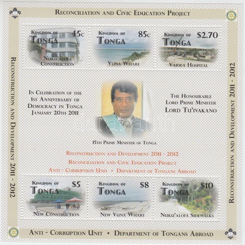 Reconstruction and development, the first year of democracy block, Rekonstrukció és fejlődés, a demokrácia első éve blokk