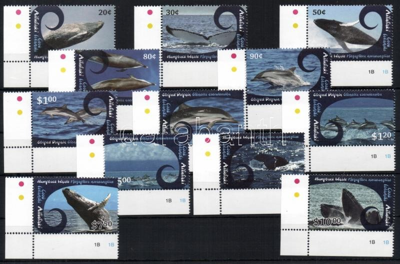 Bálnák sor, 12é Whales set, 12 values
