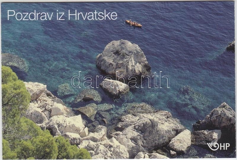 Coratia,greeting stamp-booklet Horvátországi üdvözlet bélyegfüzet