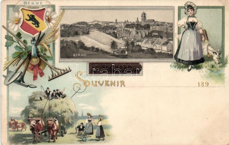 Bern, folklore, Suchard advertisement litho