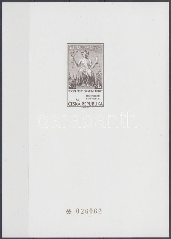 Traditional czech stamp making balck print block Hagyományos cseh bélyegkivitelezés feketenyomat blokk