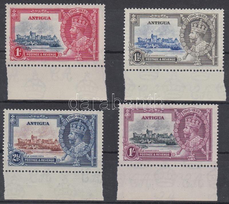 V. György trónralépésének jubileuma ívszéli sor 25th Jubilee of King George V margin set