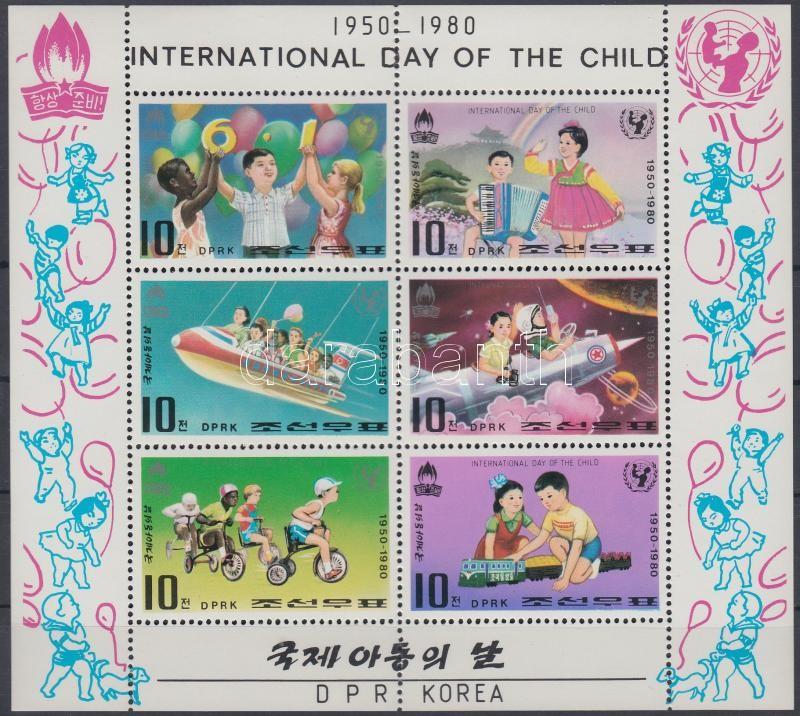 International Children day mini-sheet Nemzetközi gyermeknap kisív