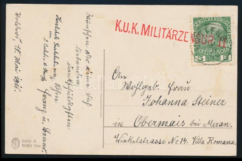 Postcard with military censure Képeslap katonai cenzúrával