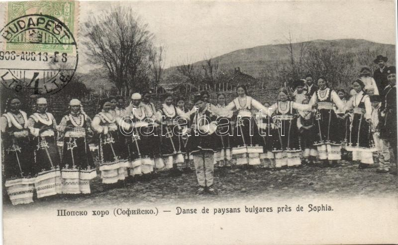 Bolgár paraszt tánc, Szófia, Bulgarian peasant dance, Sofia
