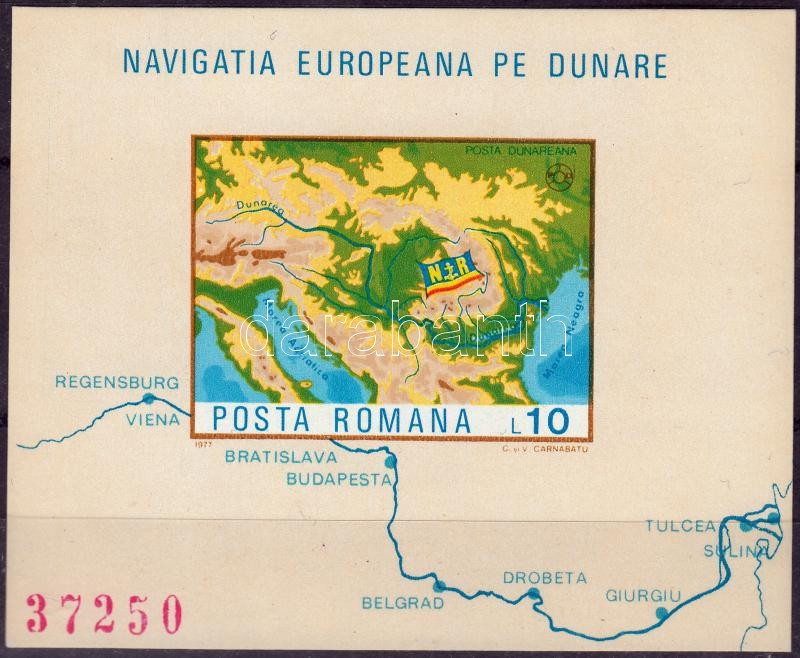 Dunai hajózás blokk Danubian shipping block