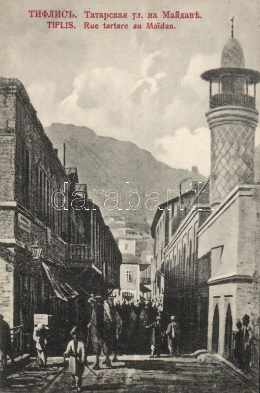 Tbilisi, Tiflis; Maidan, Tatarskaya ulica, street, mosque