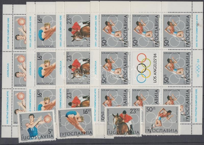 Summer Olympics set+mini-sheets Nyári olimpia sor és kisívek