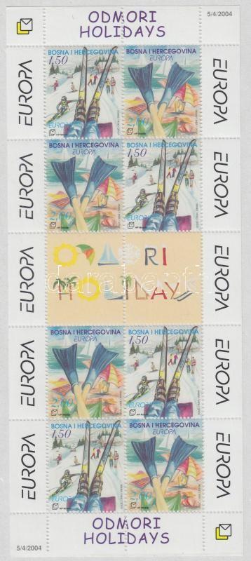 Europe CEPT Holiday mini-sheet Europa CEPT Vakáció kisív
