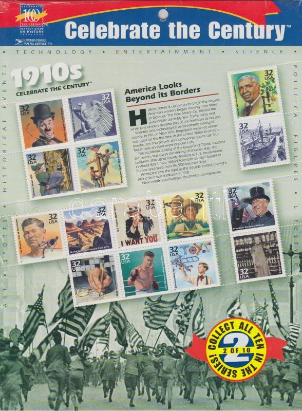 1998 Amerika a 20. században blokk Mi 41