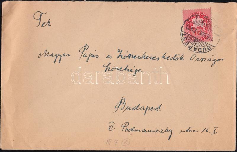 domestic cover franking, (8. díjszabás) Helyi levél Lovasfutár 10ezerP bérmentesítéssel
