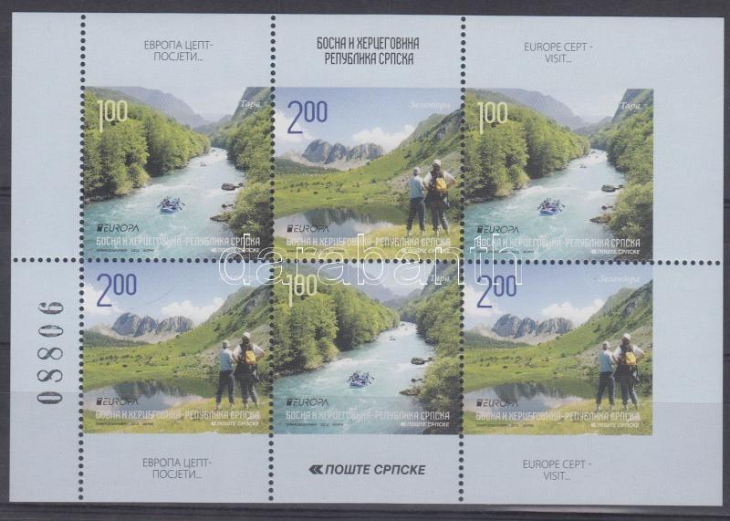 Europa CEPT Turizmus bélyegfüzetlap Europa CEPT Turism stamp booklet page