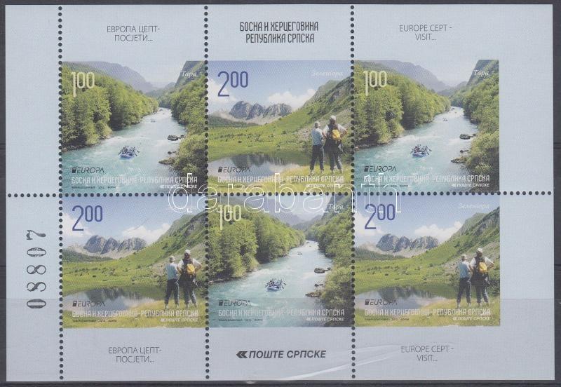Europa CEPT Turism stamp-booklet page Europa CEPT Turizmus bélyegfüzetlap