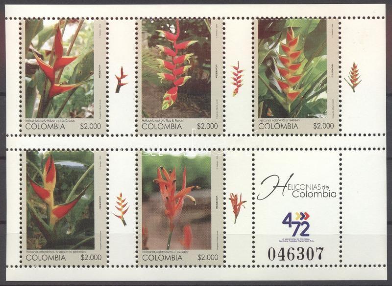 Heliconia stricta mini-sheet Rákollóvirágok kisív