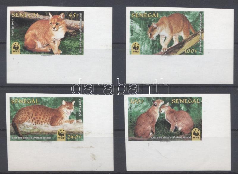 WWF: African felines corner imperofated set WWF: Afrikai macskafélék ívsarki vágott sor