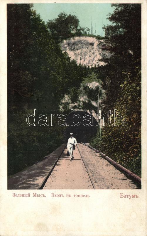 Batumi, Batoum; railroad tunnel