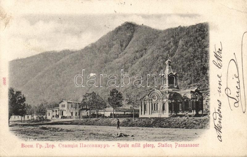 Pasanauri station; Georgian military route
