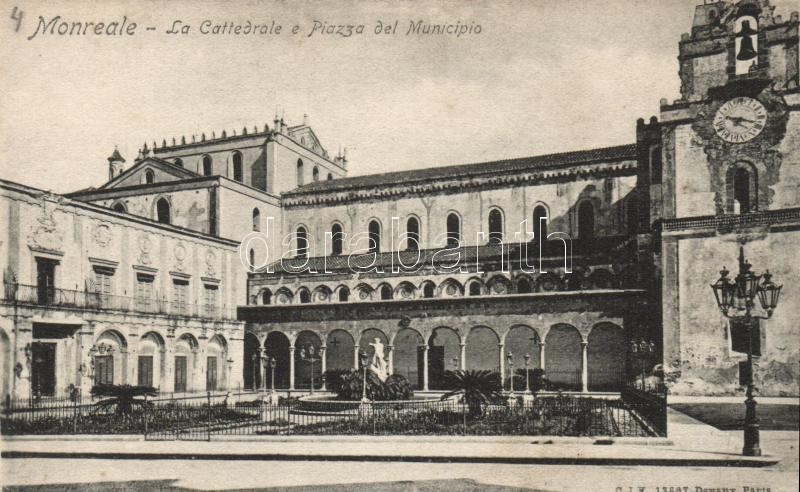 Monreale, Cattedrale, Piazza del Minicipo / cathedral, the town hall square