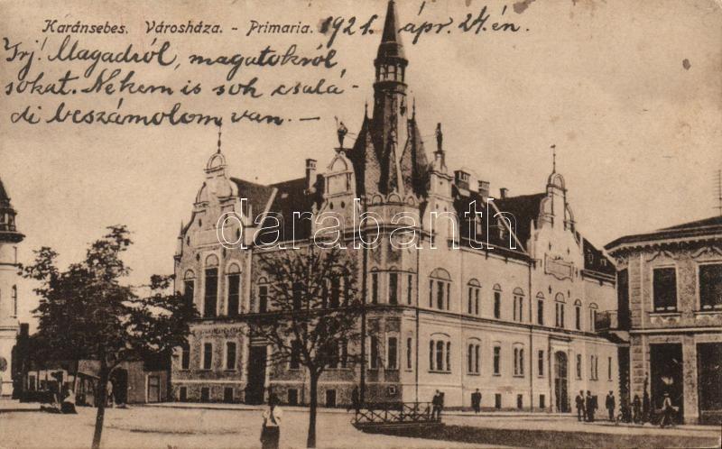 Caransebes, town hall, Karánsebes, Városháza