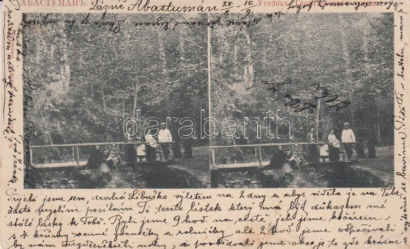 Abastumani, stereo postcard