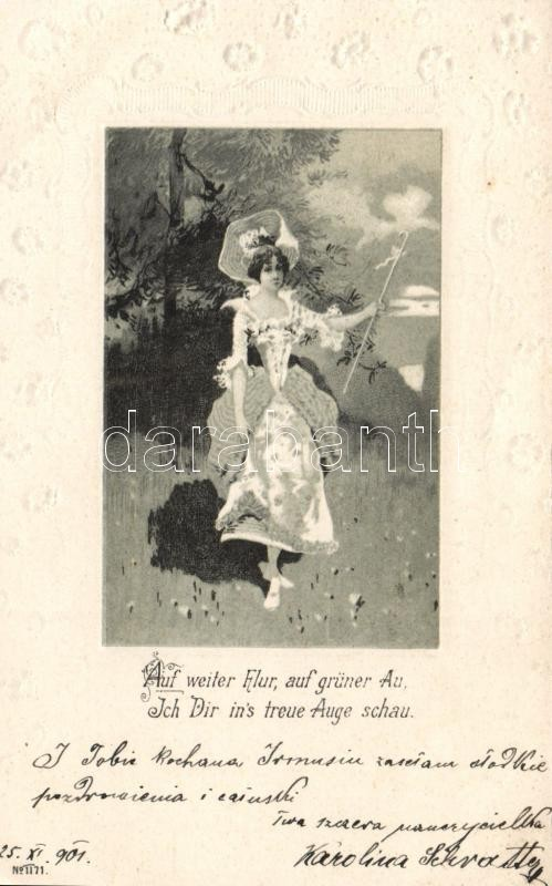 Lady floral Emb. litho, Hölgy floral Emb. litho