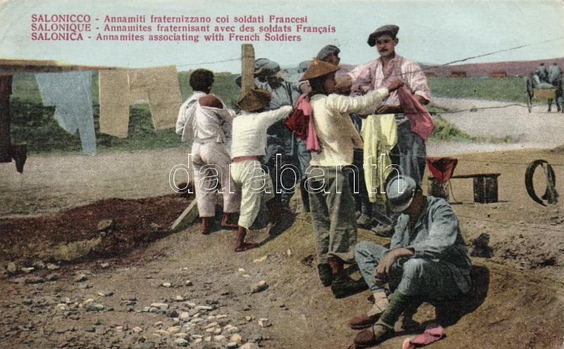 Thessaloniki, Annamites associating with French soldiers