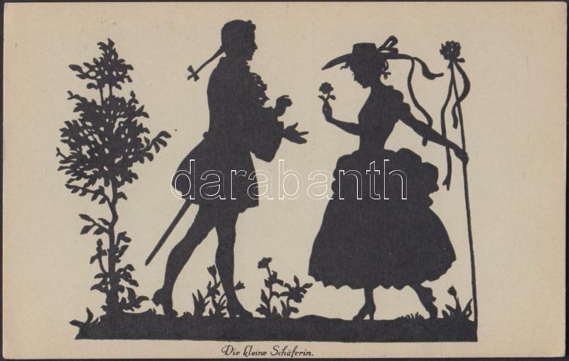'Die kleine Schäferin' silhouette s: Gerda Luise Schmidt, Sziluett, s: Gerda Luise Schmidt