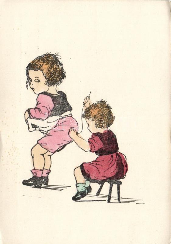 Foltvarró kisgyerek, humor, Children, sewing, humour