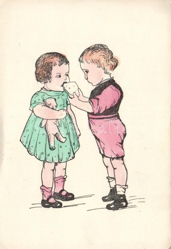 Children, food, humour, Egymást etető kisgyerekek, humor