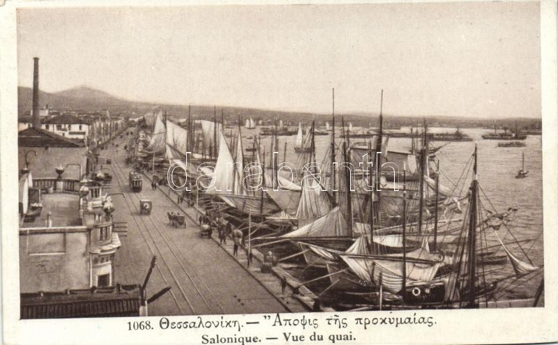 Thessaloniki, Salonique; quay, ships