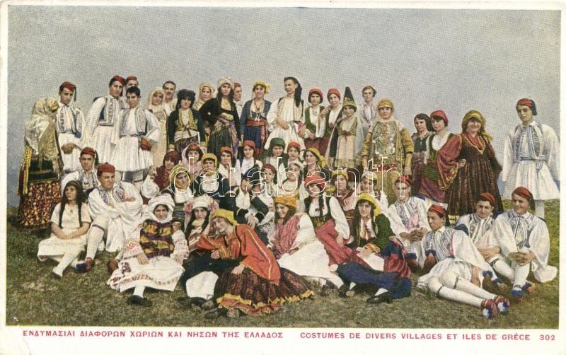 Greek folklore, costumes, Görög folklór