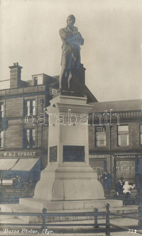 Ayr, Burns statue, W. & J. Sproat's shop