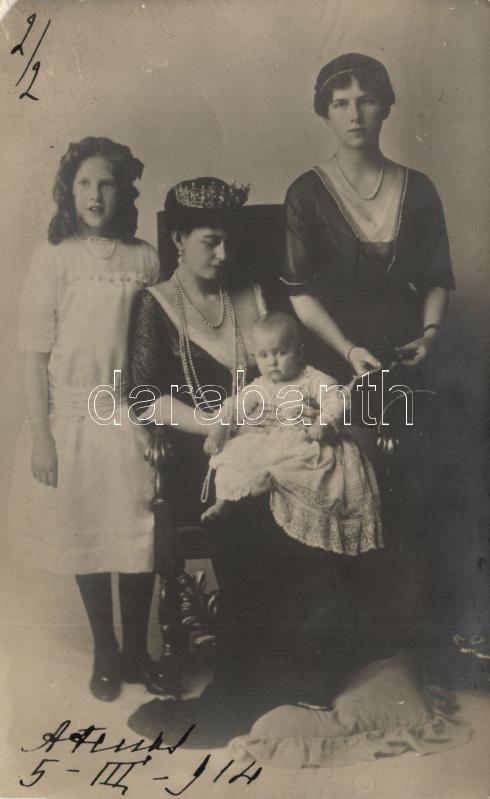 Sophia of Prussia, Helen of Greece and Denmark, Princess Irene, Duchess of Aosta, Princess Katherine of Greece and Denmark, photo