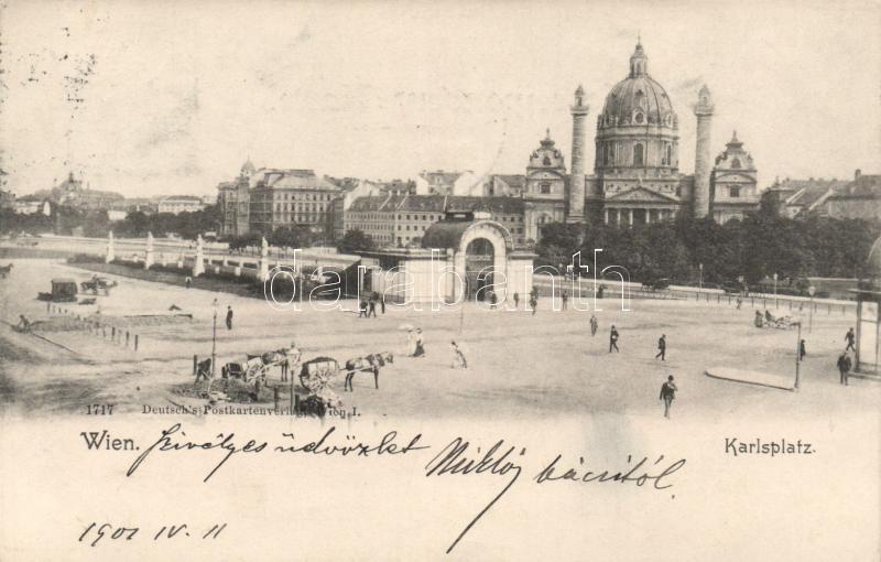 Vienna, Wien; Karlsplatz / square