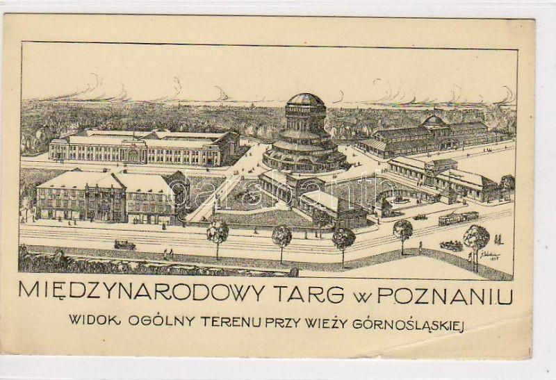 Poznan, Miedzynarodowy Targ / International Market, Upper Silesian Tower, artist signed